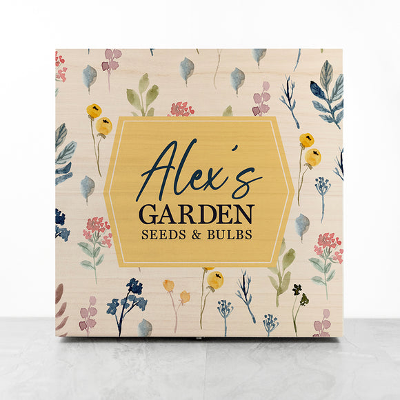Personalised Botanical Garden Accessories Box