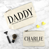 Personalised Daddy & Me Wash Bags