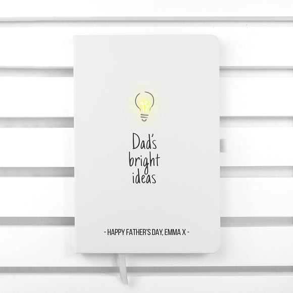 Personalised Dad's Bright Ideas A5 Notebook