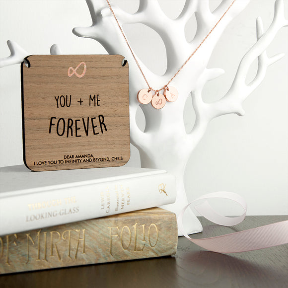 Personalised Infinity Necklace & Keepsake