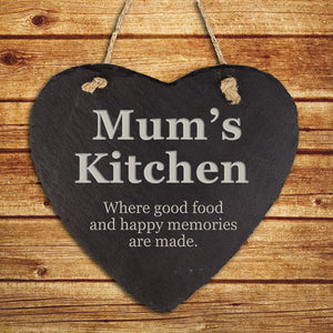 Personalised Mums Kitchen Hanging Slate Keepsake
