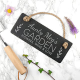 Personalised Our Garden Slate Hanging Sign
