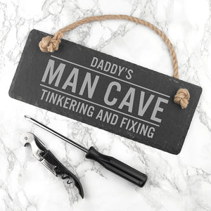 Personalised Slate Man Cave Sign