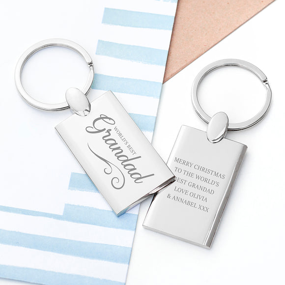 Personalised World's Best Grandad Keyring