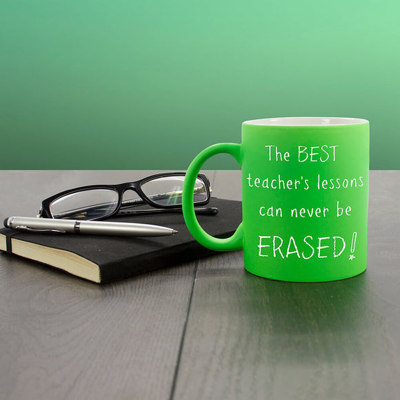 Best Teacher Personalised Mug Green