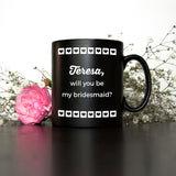 Personalised Wedding Bridesmaid Pinterest Mug