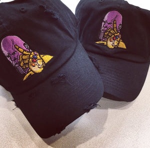 Black Distressed or Plain Thanos Dad Cap Hat