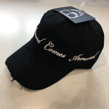 Black What Goes Around Comes Around Dad Cap Hat