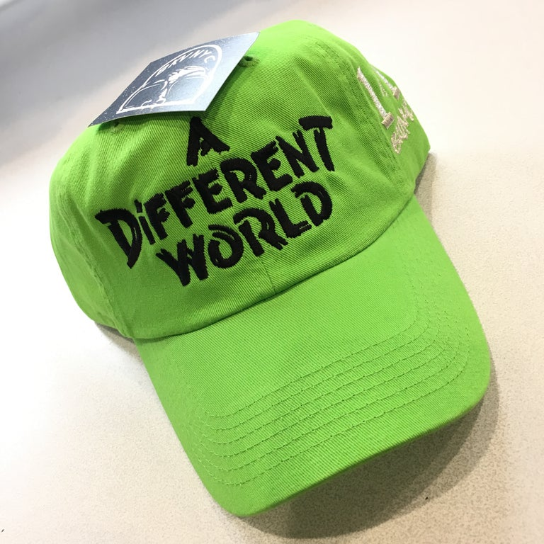 Lime Green A Diff. Wrld Dad Cap Hat 1 of 1 Edition