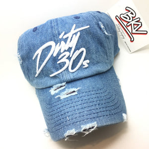 Denim Distressed Dirty 30s Dad Cap