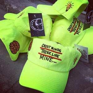 Neon Green/Yellow Great Minds Think Like Mine Dad Cap Hat