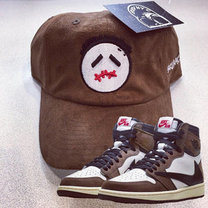 Brown Suede Cactus Jack Dad Cap For Travis Scott Jordan 1s
