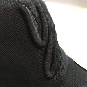Black Distressed Y For Yeezy Dad Cap Hat