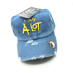 "Denim Distressed ""I Crush A Lot"" Dad Cap Hat"