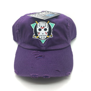 "Purple Distressed ""Mighty Jason's"" Dad Cap Hat"