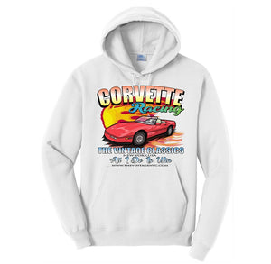 White Corvette Corvette Pull-Over Hoodie 4 Diff. Color Choices