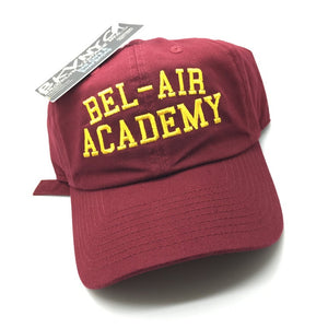 Burgundy Bel-Air Academy Will Smith Fresh Prince Dad Cap Hat 90s Era