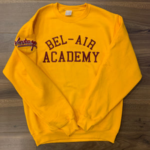 Gold Bel-Air Academy Embroidered Crewneck Sweater