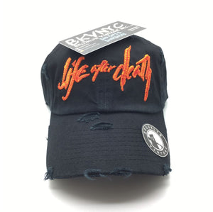 Black Distressed The Afterlife Dad Cap Hat
