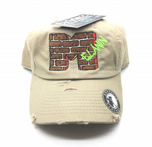 Tan Distressed Melanin Brick Dad Cap Hat