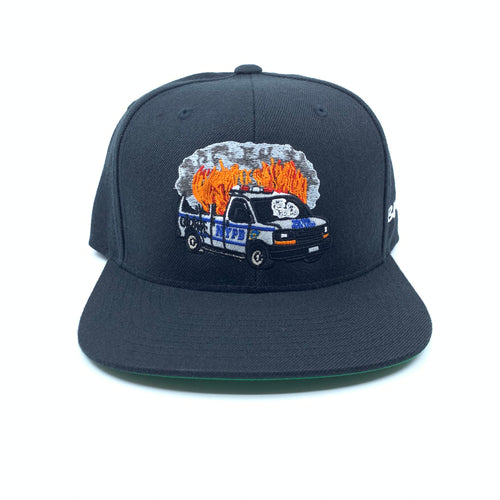 Burning Paddy Wagon Snapback Hat 3 Diff. Color Choices