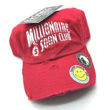 Red Distressed Millionaire Soon Club Dad Cap Hat