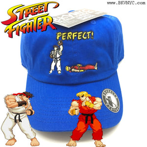 "Royal Blue Street Fighter ""Perfect"" Dad cap Hat"