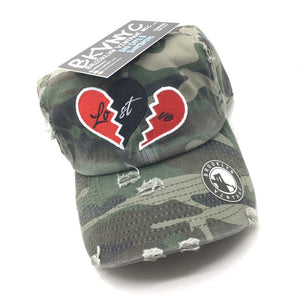 Camo Distressed No Love Lost Dad Cap Hat