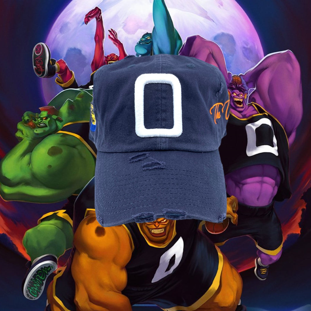 Navy Blue Distressed Monstars Hat For LeBron 17