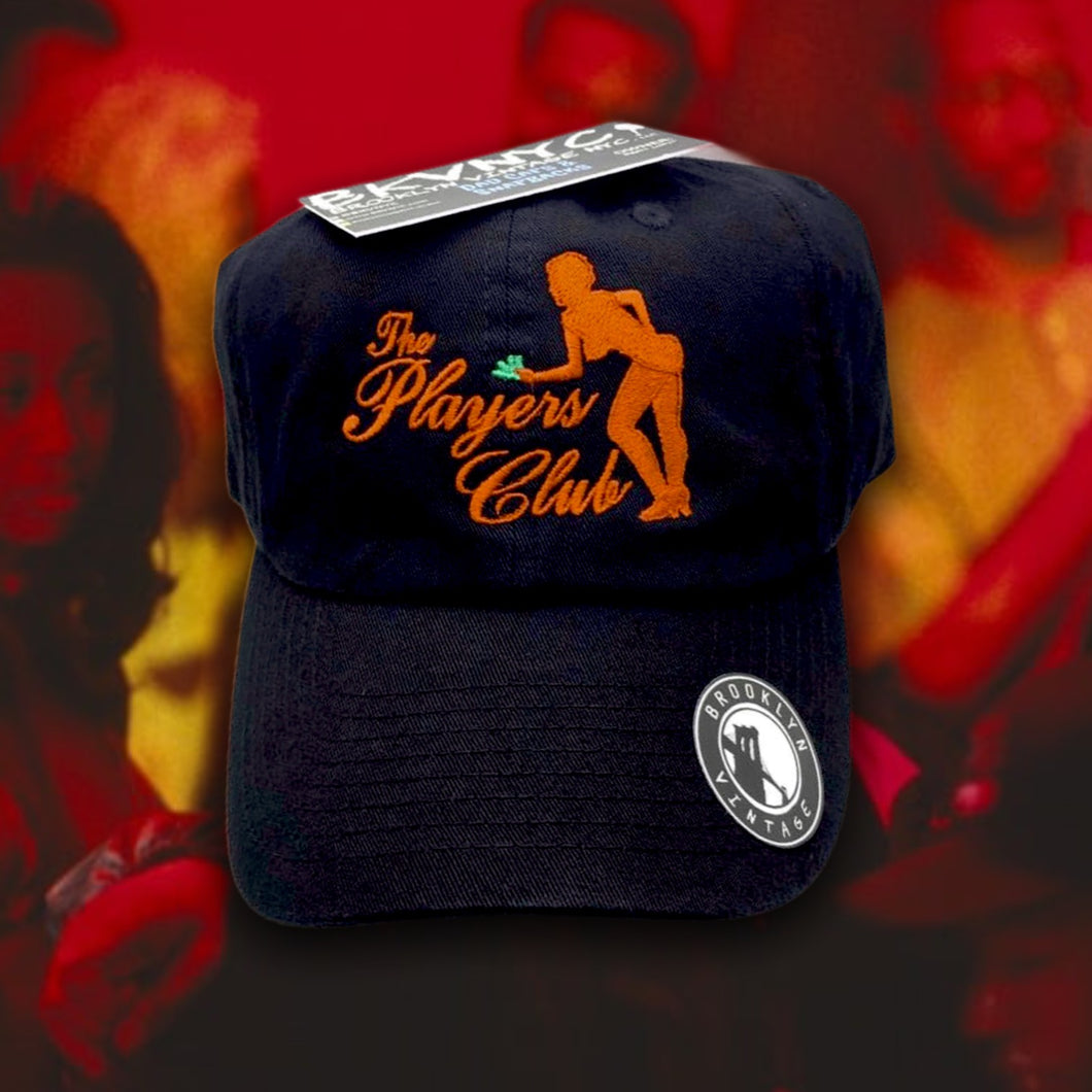 Black The Players Club Dad Cap Hat