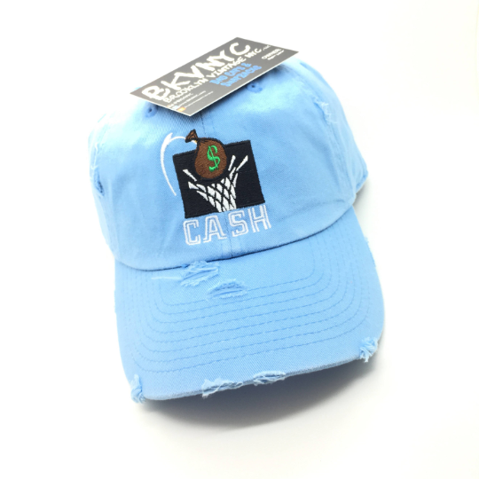 Sky Blue Distressed Cash Dad Cap Hat