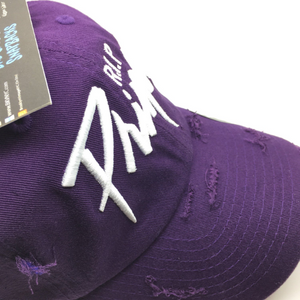 "Purple Distressed ""The Artist"" Dad Cap Hat"