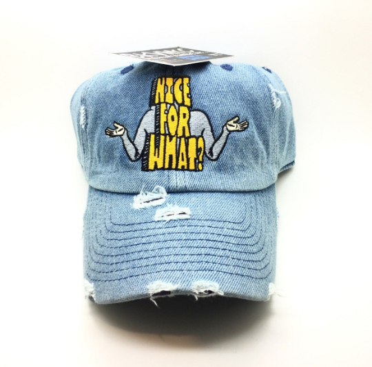 Denim Distressed Nice For What Dad Cap Hat