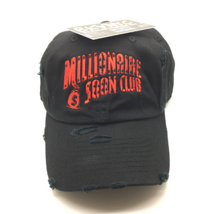 Black Distressed Millionaire Soon Dad Cap Hat