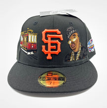 Black San Francisco Giants E-40 Custom Fitted Sizes Below