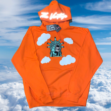Orange Statue Of Lit-Berty Embroidered Pull-Over Sweater