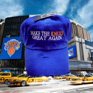 Royal Blue Make The Knicks Great Again Dad Cap Hat Or SnapBack