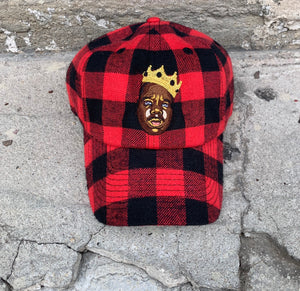 Red & Black Lumberjack Dad Cap Hat