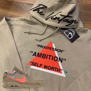Sand Embroidered Ambition Hoodie