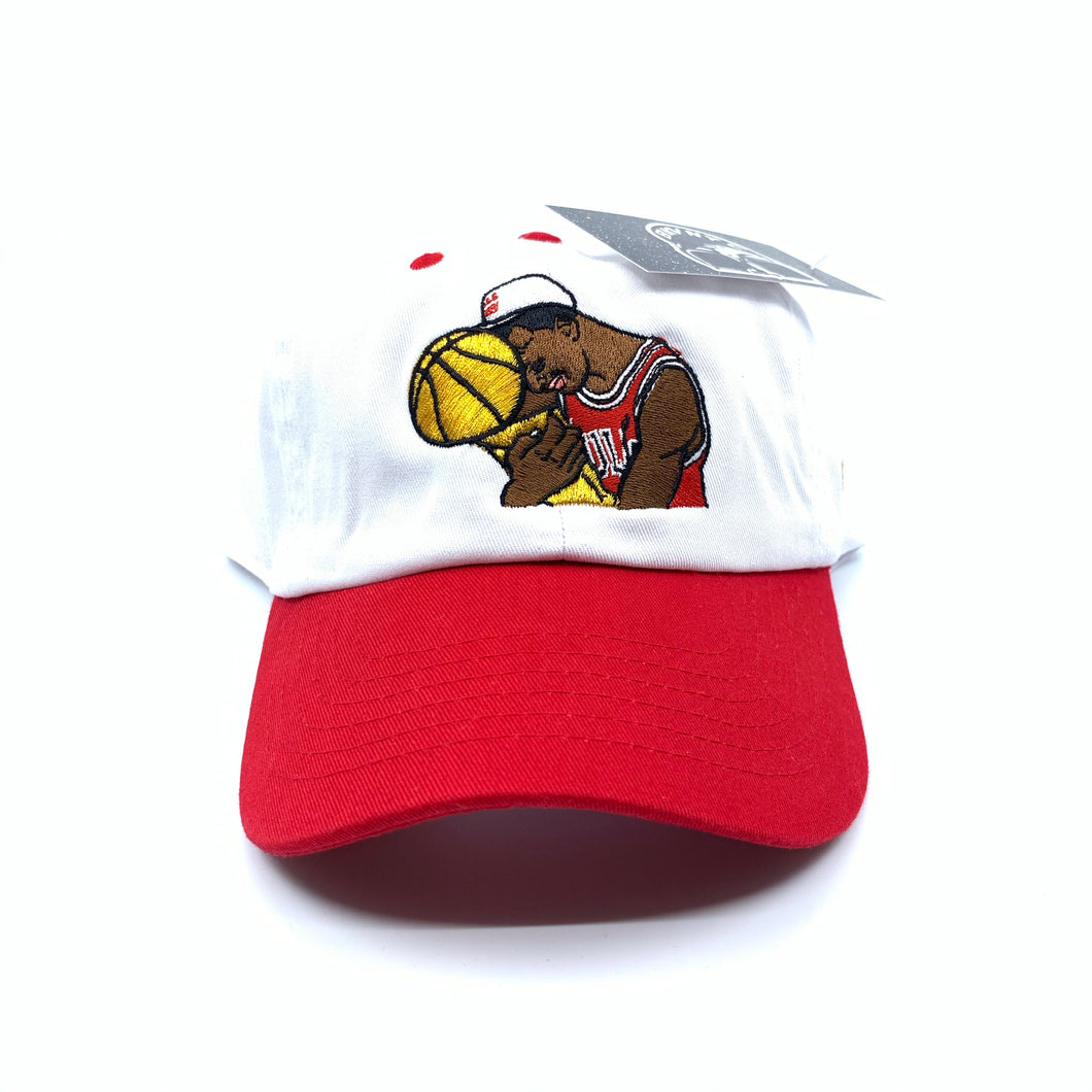 White/Red Jordan Trophy Hug Dad Cap Hat