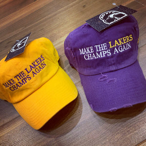 Make The Lakers Champs Again Dad Cap
