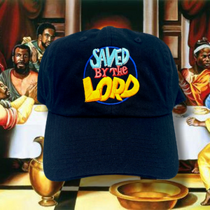 Black Saved By The Lord Dad Cap Hat