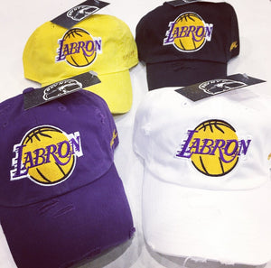 LA-Bron Lakers Dad Cap Hat