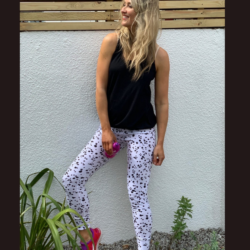 Monochrome Loungewear Leggings