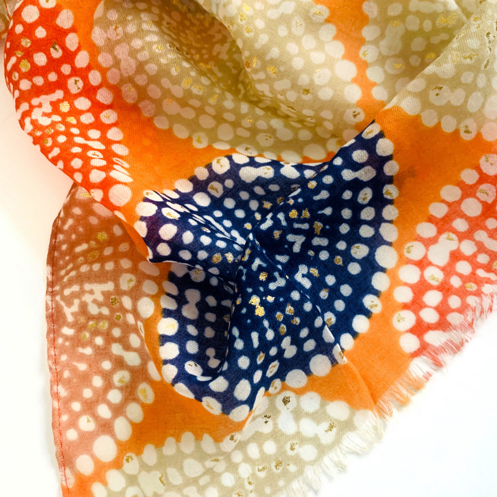 Pom Pom Orange Beach Wrap