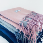 New. Cashmere Mix Pink Scarf