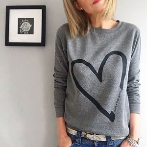 Twisted Heart Grey Sweat