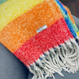 Luxuriously Soft Rainbow Throw