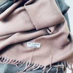 New. Cashmere Mix Dusty Pink Scarf