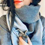 New. Cashmere Mix Grey Scarf